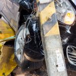 Hackensack – Sedan Slams Into Pole Leaving Driver Injured