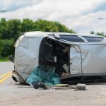 Hackensack – Van Lands on Its Side After Crash